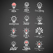 Vector Abstract Bulb Icons Isolated On Background