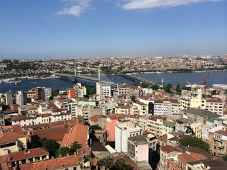Panorama of Istanbul from the Galata's Tower, Turkey