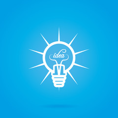 Abstract Bulb Icon Isolated On Background