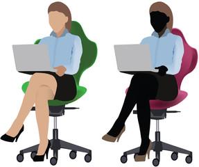 donne con computer