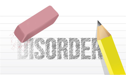 erase disorder concept illustration design