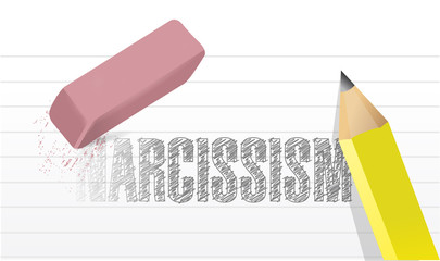 erase narcissism concept illustration design