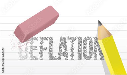 erase deflation concept illustration