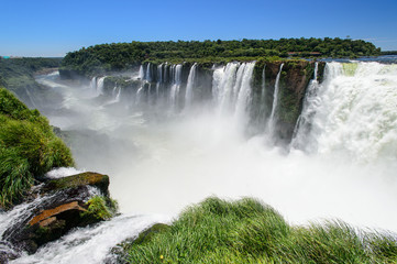 Iguazu falls view from Argentina
