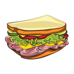 Cartoon Sandwich