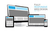Fully responsive web design electronic devices vector