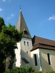 Kirchturm der evangelisch-reformierten Kirche in Stapelage