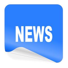 news blue sticker icon