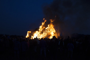 huge bonfire, a tradition with easter in North-West Europe.