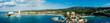 Leinwanddruck Bild - Och Rios Jamaica Bay Panoramic
