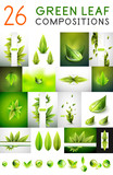 Fototapety Mega collection of vector green summer concepts