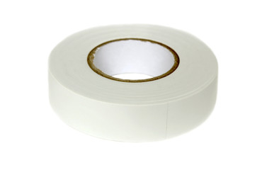 Hank of white adhesive tape