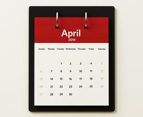 2014 April Calendar Planning