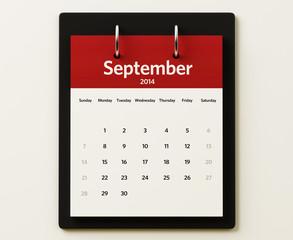 2014 September Calendar Planning