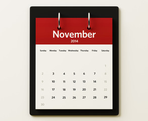 2014 November Calendar Planning