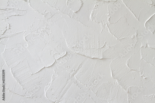 Decorative plaster effect on wall