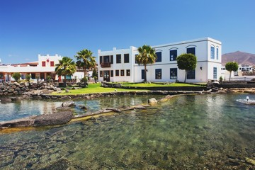 View from Plaza la Sal in Playa Blanca, Lanzarote