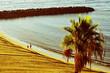 Playa del Ingles beach in Maspalomas, Gran Canaria, Spain