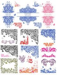 Vintage floral headers