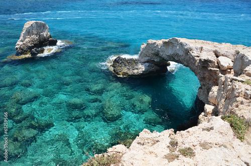 Rock arch. Ayia Napa, Cyprus - 65159566