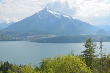 Lake Thun With Niesen