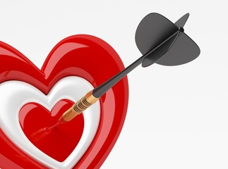 Dart with Heart Icon