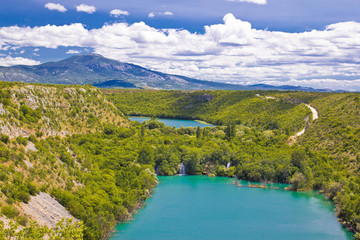 Krka river national park canyon