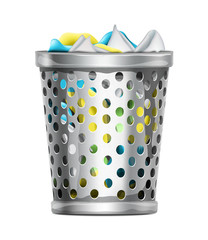 Trash Bin with Garbage
