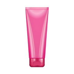 Tube Of Cream Or Gel Pink Clean