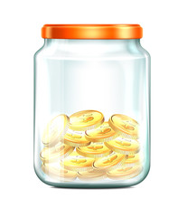 Jar with Coins