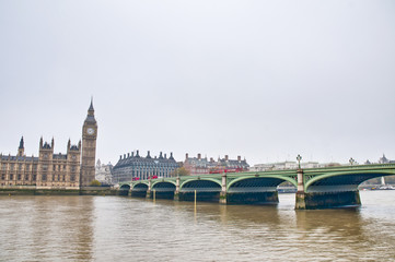 Westminster Bridge at London, England