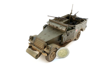 M3 Scout Car with coin