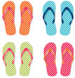 Group of four flip flops or sandals - 65161906