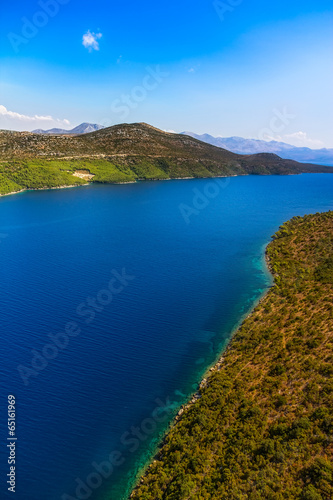 Ston channel at Peljesac peninsula