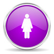 female pink glossy icon