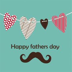 fathers day card, retro style.