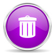 recycle pink glossy icon