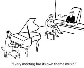 Meeting has a theme song