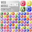 vector neon mail web media contact Web buttons