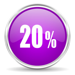 20 percent pink glossy icon
