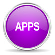apps pink glossy icon