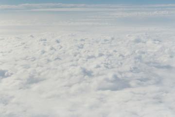 cloud in the blue sky