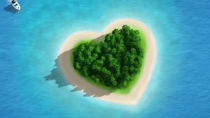 Gorgeous Beach Landscape heart zoom - magnifique plage coeur