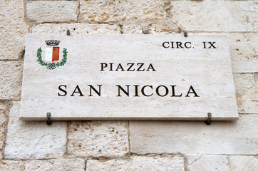 Piazza San Nicola, bari