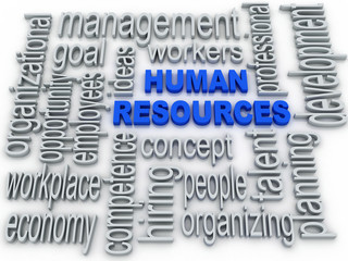 Human Resources concept in tag cloud on white background