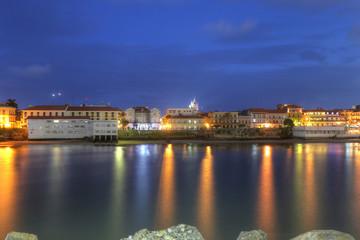 Casco Viejo, Panama City, across the Bay in the twilight