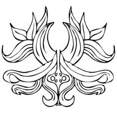 forme arabesque rétro