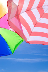 Beach umbrellas background