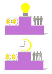 Podium idea and time more than money and labour