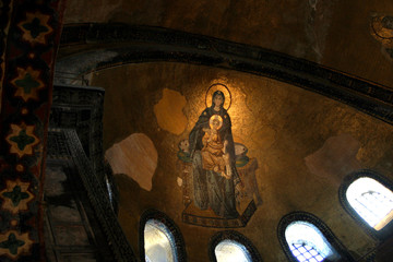 アヤソフィアの聖母子のモザイク画